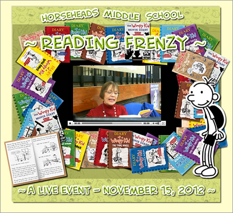 An image from the Horseheads Middle School Reading Frenzy on November 15th, 2012